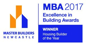 "An award we are incredibly proud of, Housing Builder of the Year. In the MBA's words ""The residential builder of the year, Pycon Homes and Constructions, delivered high quality standards and finishes throughout a number of dwellings on the Mid North Coast."""