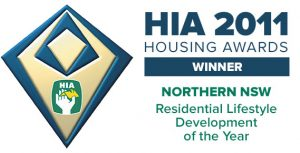 Pycon Homes & Constructions, secure the 2011 HIA Northern NSW Award 'Residential Lifestyle Development of the Year' for the Sienna Grange over 55's lifestyle retirement villa project.
