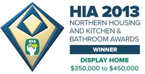 The Housing Industry Association Award for Display Home of the Year $350-450K (2013) was awarded to Pycon Homes for their stunning two storey display home at Sovereign Hills, Port Macquarie.
