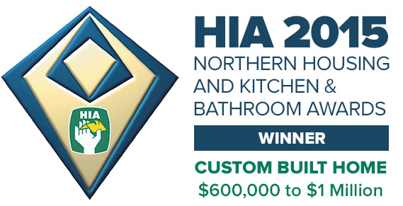 The Housing Industry Association Northern Housing and Kitchen & Bathroom Awards for Best Custom Built Home between $600,000 and $1Mil was awarded to Pycon Homes.