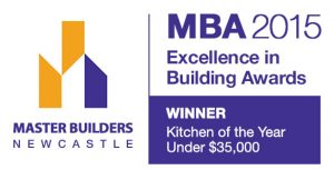 The 2015 Excellence in Building Award for Kitchen of the Year under $35,000 was awarded to Pycon Homes!